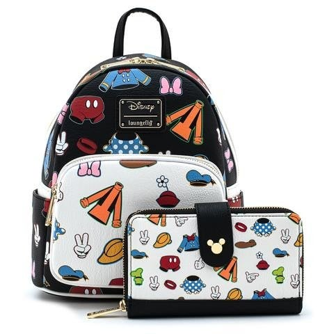Loungefly Disney Sensational 6 Clothing Mini Backpack and/or Wallet