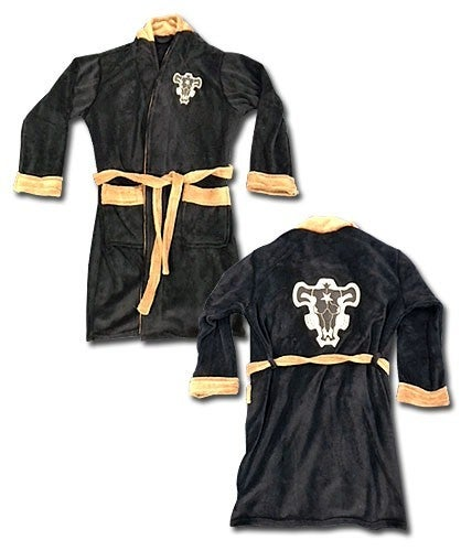 Black Clover Black Bulls Logo Bath Robe