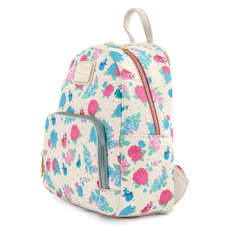 Sleeping Beauty Floral Fairy Godmother AOP Mini Backpack Loungefly
