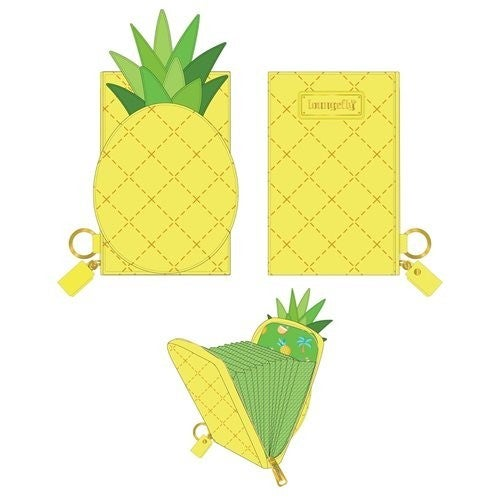 Pool Party Pineapple Accordion Wallet Loungefly PRE-ORDER