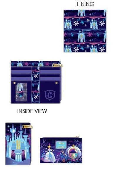 PREORDER Loungefly Disney Cinderella castle series flap wallet Expected late June