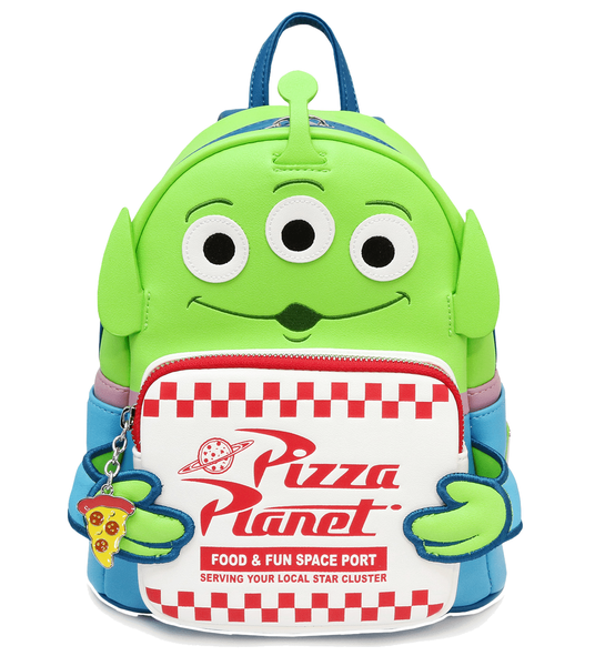 TOY STORY Alien Pizza Planet Mini Backpack LOUNGEFLY [ PRE-ORDER for October]