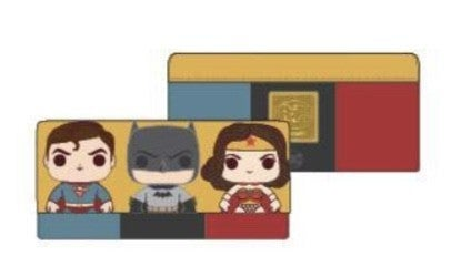 DC Comics Batman, Superman & Wonder Woman  Comics Trio Wallet  [PRE-ORDER - SEPTEMBER DELIVERY] POP by LOUNGEFLY