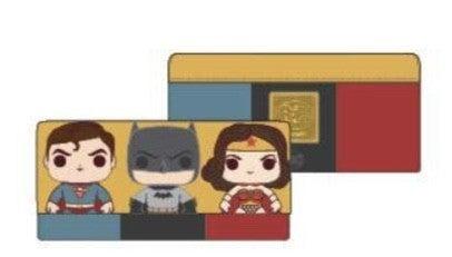 DC Comics Batman, Superman & Wonder Woman  Comics Trio Wallet  [PRE-ORDER - SEPTEMBER DELIVERY] POP by LOUNGEFLY