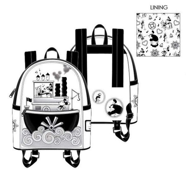 PREORDER Loungefly Disney Steamboat Willie music cruise mini backpack Expected Late June