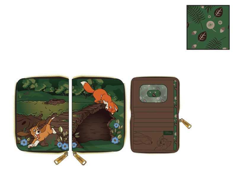 Fox and the Hound Copper and Todd zip around Wallet Loungefly PRE-ORDER