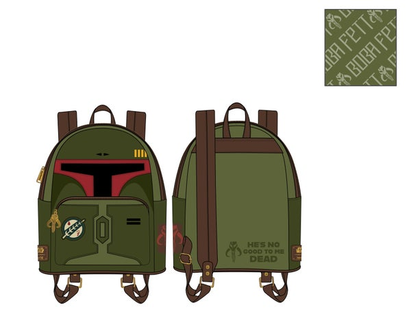 Star Wars Boba Fett - He's no good to me dead - cosplay Mini Backpack Loungefly PRE-ORDER - duplicate