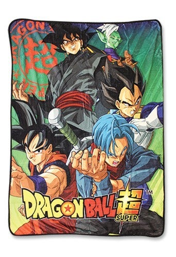 DRAGON BALL GROUP w/ GOKU BLACK TRUNKS SUBLIMATED THROW BLANKET