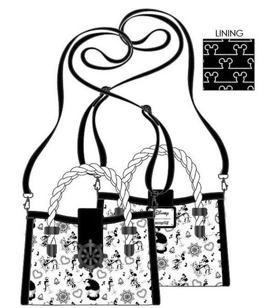 PREORDER Loungefly Disney Steamboat Willie music cruise crossbody Expected Late June