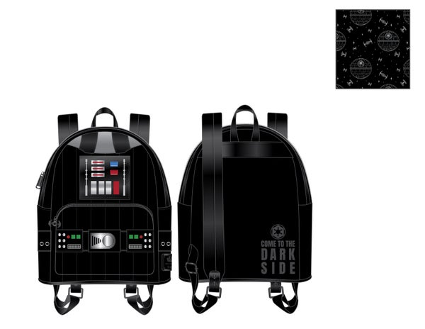 Star Wars Darth Vader light up cosplay Mini Backpack Loungefly PRE-ORDER