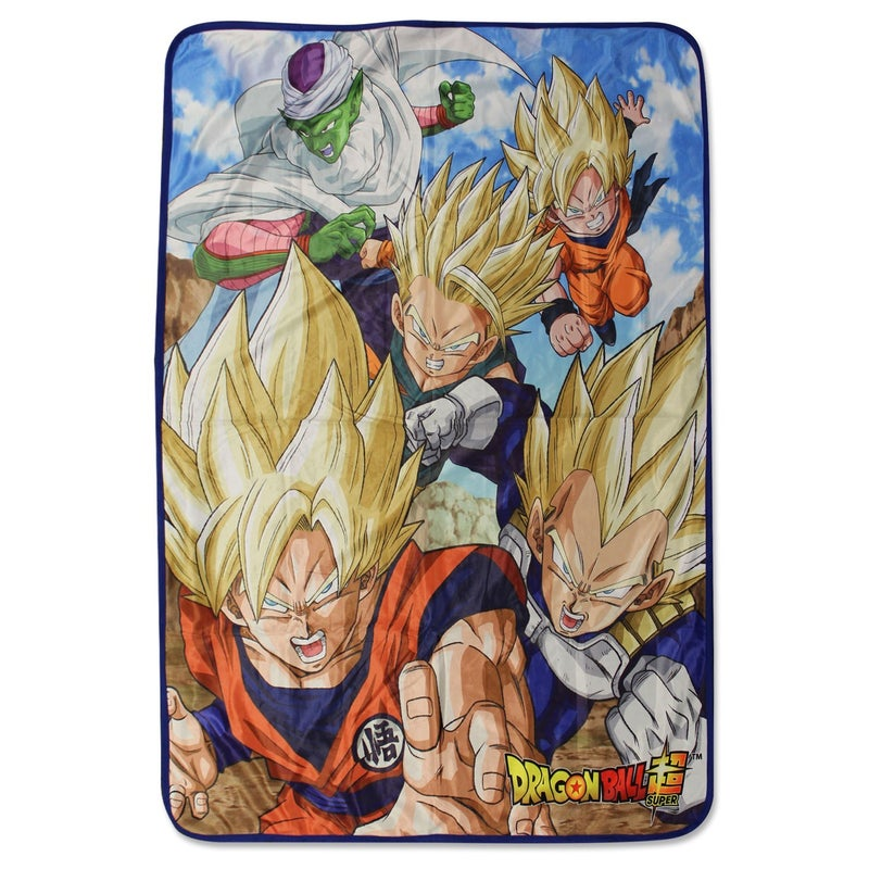 DRAGON BALL SUPER SAIYAN GROUP 8 SUBLIMATION THROW BLANKET