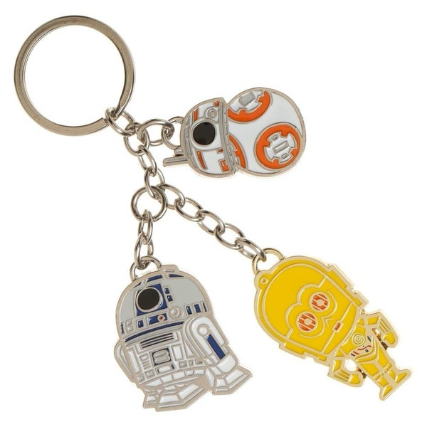 Star-Wars Droid Charmed Keychain