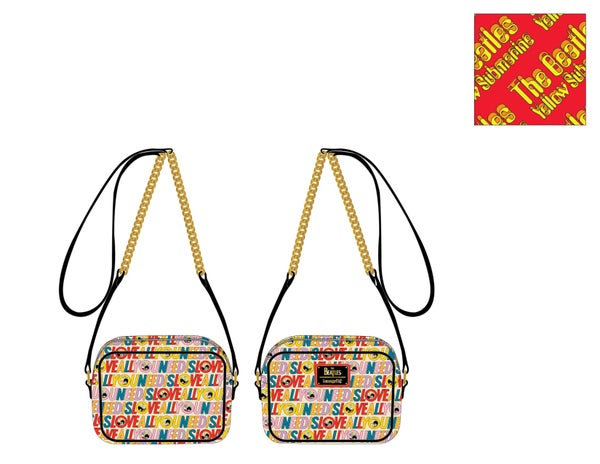 PRE ORDER Loungefly The Beetles All You Need is Love AOP crossbody