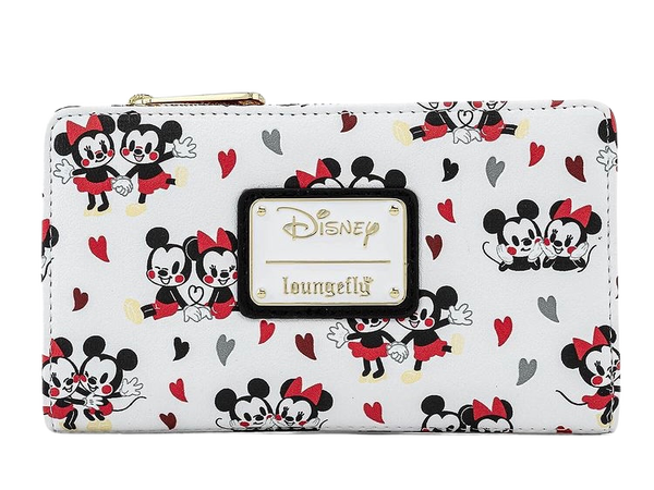 Mickey & Minnie Mouse Love AOP Wallet Disney Loungefly