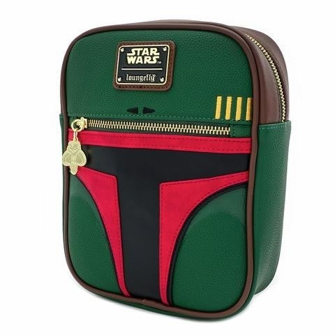 Star Wars Boba Fett Loungefly Crossbody Passport Bag Purse