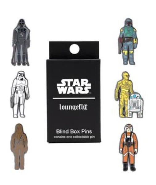 STAR WARS EMPIRE STRIKES BACK 40TH ANNIVERSARY KENNER FIGS BLIND BOX PINS LOUNGEFLY