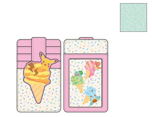 Pokemon Ice Cream Card Holder Wallet PRE-ORDER expected late May