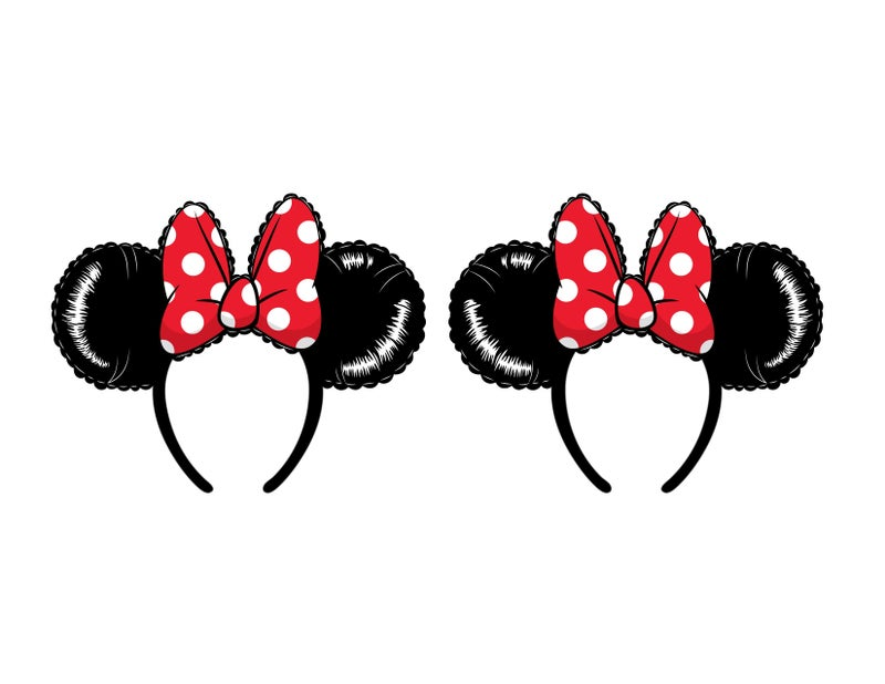 Minnie and Mickey Mouse Balloon cosplay EARS / Headband with bow Disney Loungefly PRE-ORDER expected late May