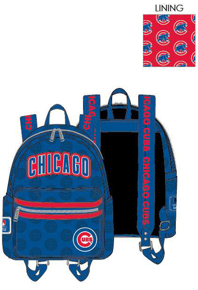 PREORDER Loungefly MLB Cubs logo mini backpack Expected late June