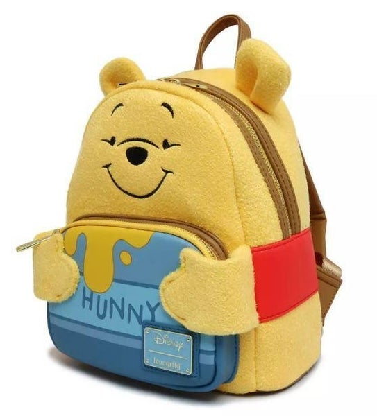 LOUNGEFLY DISNEY WINNIE THE POOH HUNNY TUMMY MINI BACKPACK