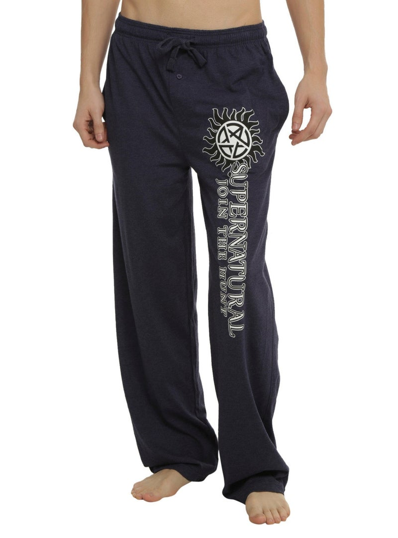 Super Natural Sleep Pants Blue Heather Men's XS Join the Hunt