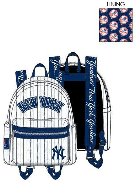 PREORDER Loungefly MLB Yankees pinstripes mini backpack Expected late June