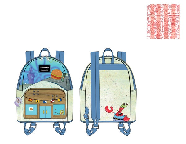 Spongebob Krusty Krab Mini Backpack Loungefly PRE-ORDER expected late March