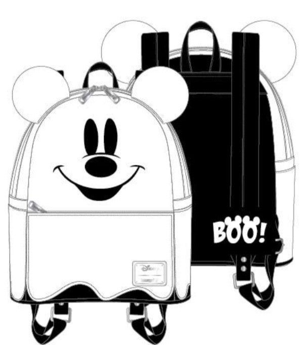 Ghost Mickey Halloween Mini Backpack [PRE-ORDER - SEPTEMBER DELIVERY] LOUNGEFLY