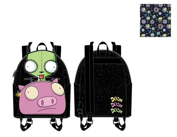 Invader Zim Gir Pig Doom Mini Backpack Nickelodeon Loungefly PRE-ORDER