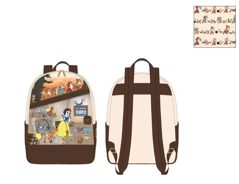 Snow White and the Seven Dwarfs Multi Scene Mini Backpack Loungefly - PRE-Order late February