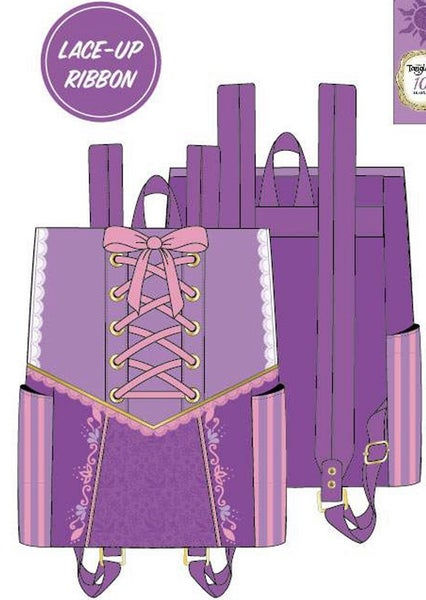 Rapunzel Dress Cosplay BACKPACK Loungefly PRE-ORDER Nov/Dec
