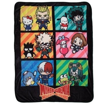 My Hero Academia X Sanrio Hello Kitty & Friends Group Throw Blanket