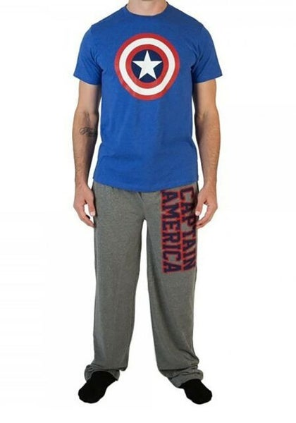 Captain America Sleep Set Men's Small