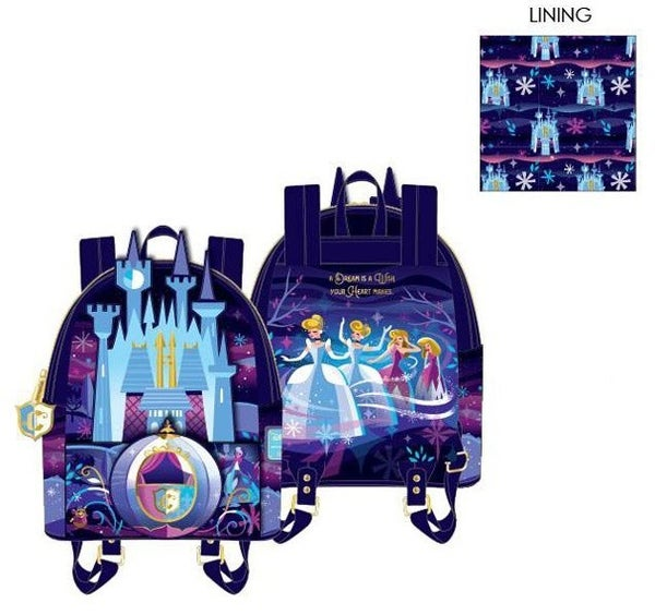 PREORDER Loungefly Disney Cinderella Castle Series mini backpack EXPECTED LATE SEPTEMBER/EARLY OCTOBER