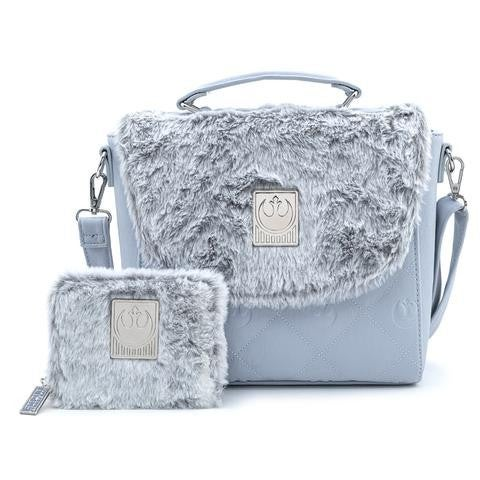 Star Wars The Empire Strikes Back 40th Anniversary Hoth Faux-Fur Crossbody Purse and/or Wallet Loungefly