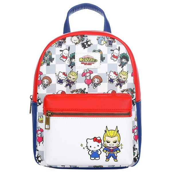 My Hero Academia X Sanrio Color Block Mini Backpack Hello Kitty