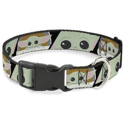 "Dog / Cat Plastic Clip Collar - Star Wars The Child Chibi Face Blocks ""Baby Yoda"""