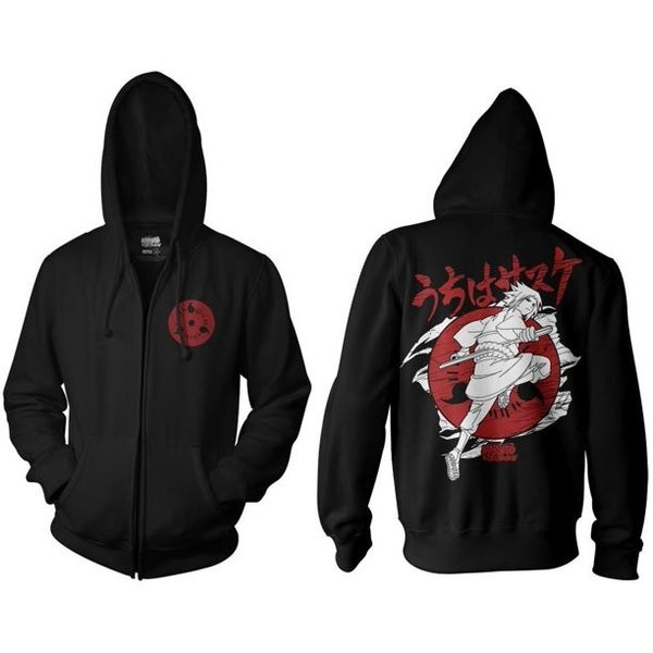 Naruto Shippuden Sasuke Hoodie Zipper ripple junction
