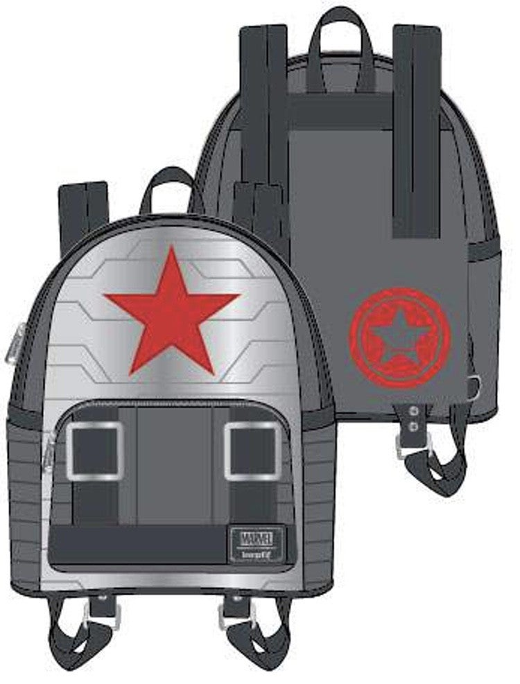 Marvel Winter Soldier Bucky Cosplay BACKPACK, WALLET or SET options Loungefly PRE-ORDER Nov/Dec