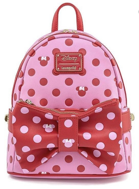 Minnie Mouse Pink Bow 2in1 Fanny / Mini Backpack Love Disney Loungefly