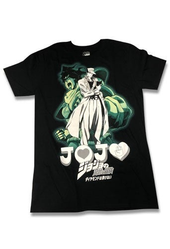 JOJO'S BIZARRE ADVENTURES JOTARO & STAR PLATINUM MEN'S T-SHIRT