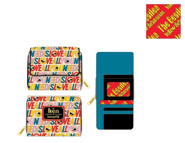 The Beatles All You Need is Love AOP Wallet Loungefly PRE-ORDER