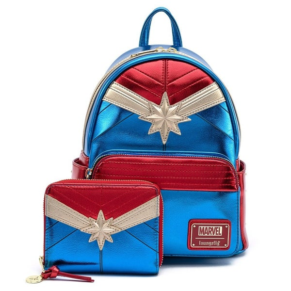 MARVEL CLASSIC CAPTAIN MARVEL METALLIC MINI BACKPACK Loungefly