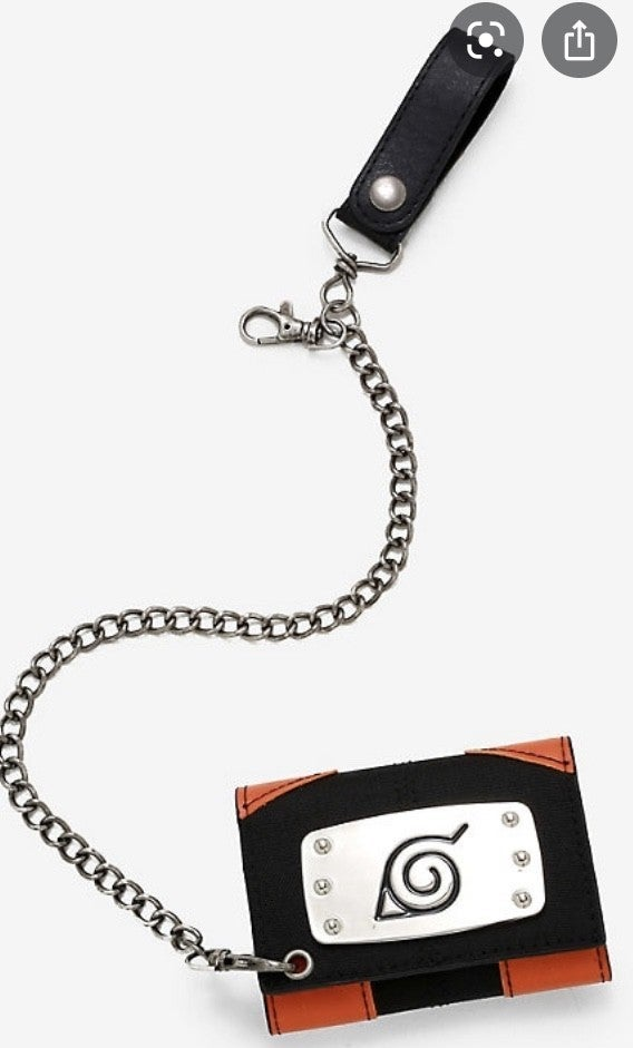 Naruto Tri-fold Wallet with Chain