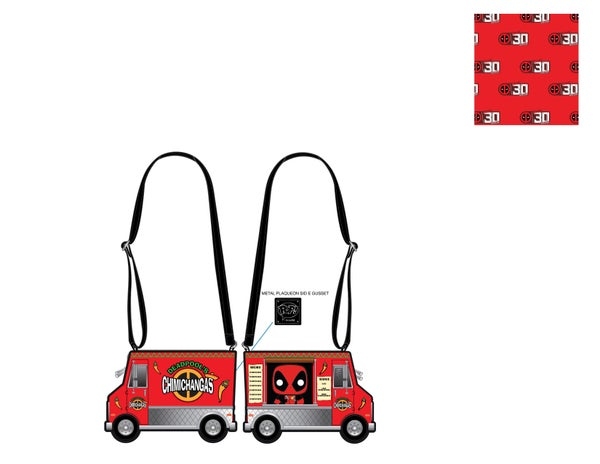 Marvel Deadpool 30th Anniversary Chimichangas Food Truck Crossbody Pop by Loungefly - PRE-ORDER
