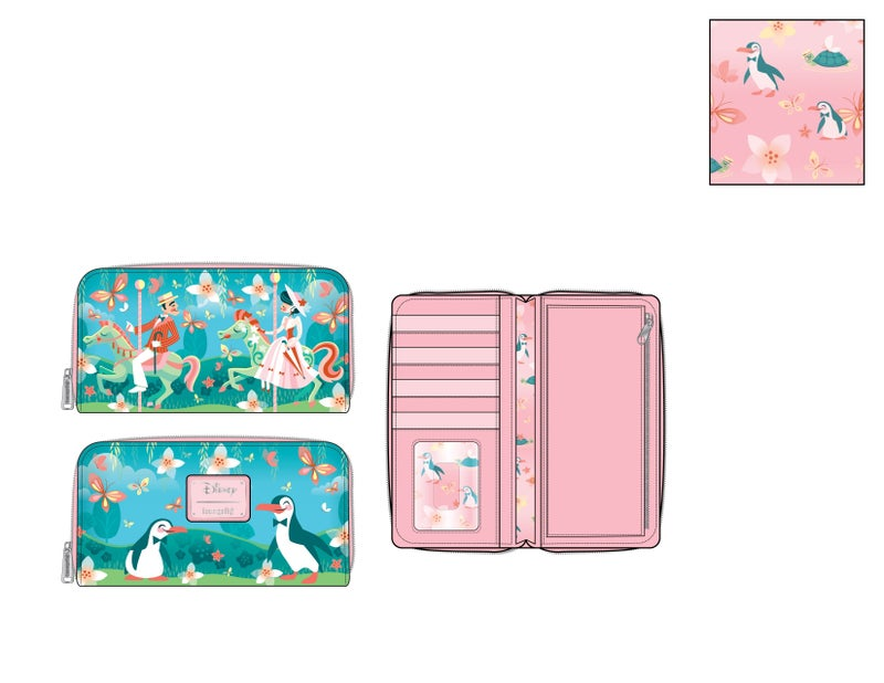 Mary Poppins jolly holiday ziparound Wallet Disney by Loungefly PRE-ORDER expected late May