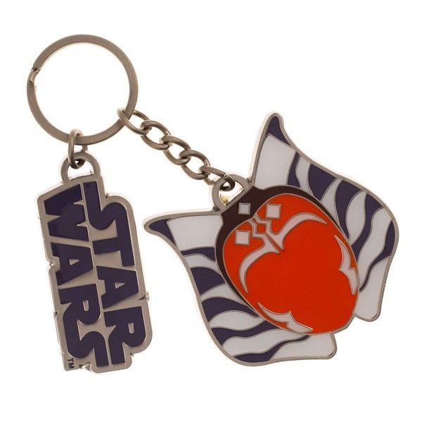 Star Wars Ahsoka Tano Keychain with Metal Charm