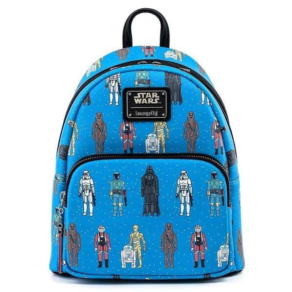 Star Wars Action Figures AOP SET & MINI BACKPACK options [PRE-ORDER - OCTOBER DELIVERY] LOUNGEFLY