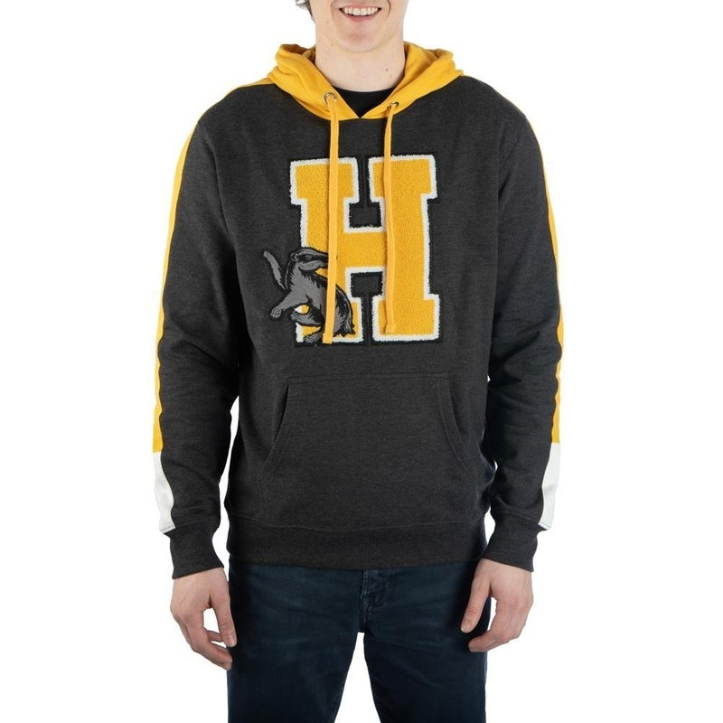Harry Potter Hufflepuff Chenille Patch Hooded Sweatshirt