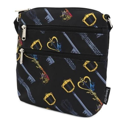 Kingdom Hearts AOP Nylon Keys Print Passport Bag Loungefly